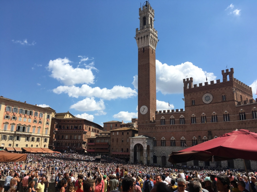 Siena during the Palio.