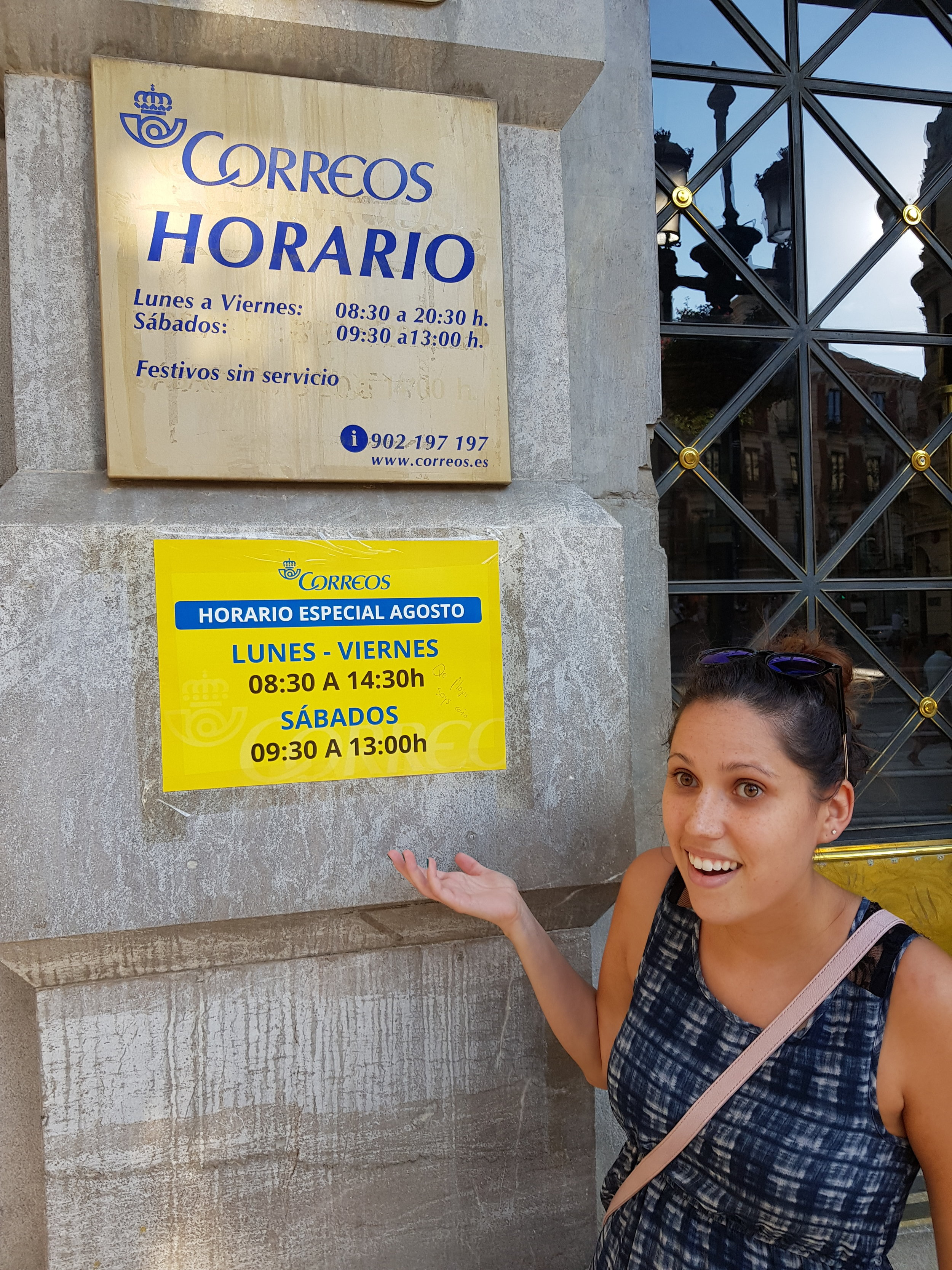 As with most offices in Spain, be sure to check the timetable before you head out to  correos,  especially in the summer!