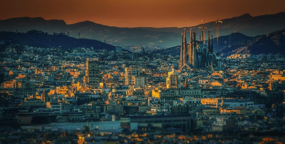 Barcelona at sunset. Photo source Pixabay Walkerssk