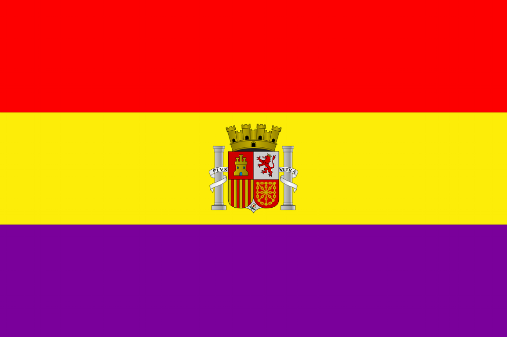 The flag for the Spanish Republic.