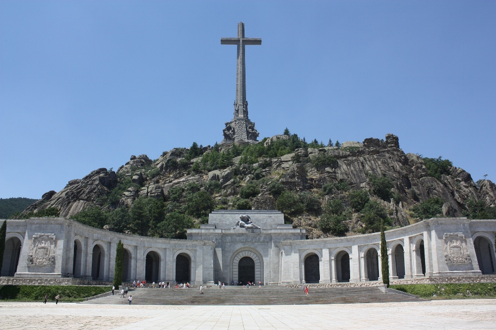 Valley of the Fallen, Monument designed by Franco by those who fell during the Spanish Civil War that acts as his current resting place.
