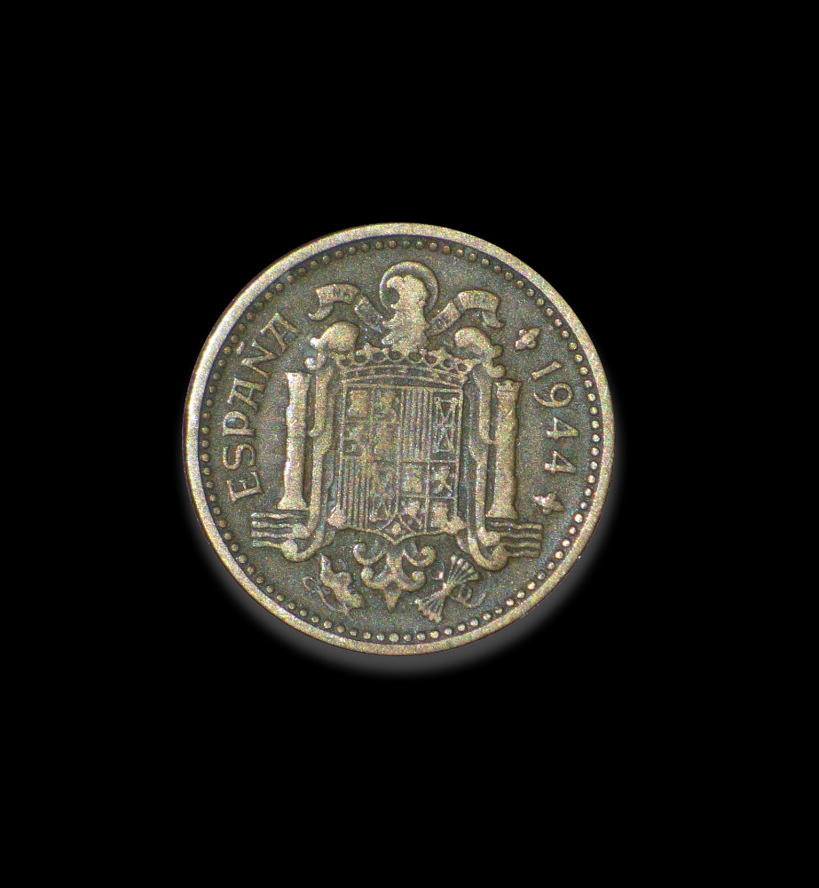 Coin used during Franco's rule. Photo source Pixabay makamuki0