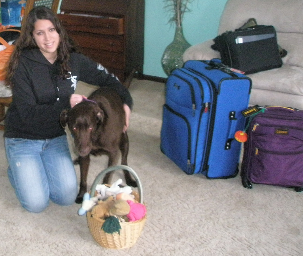 The first time she packed up her suitcases was hard enough on all of us; why did she want to leave again!?