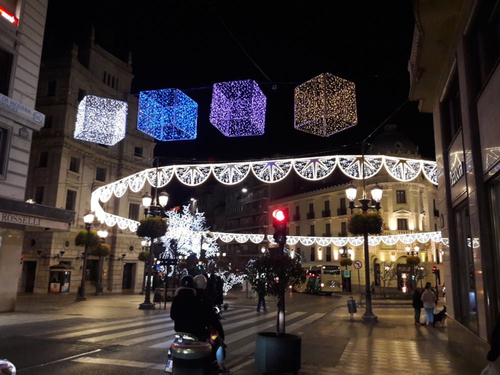 All sorts of lights and Christmas decorations can be found, mostly hanging above streets and walkways, at this time of year. It's ideal for a festive stroll!