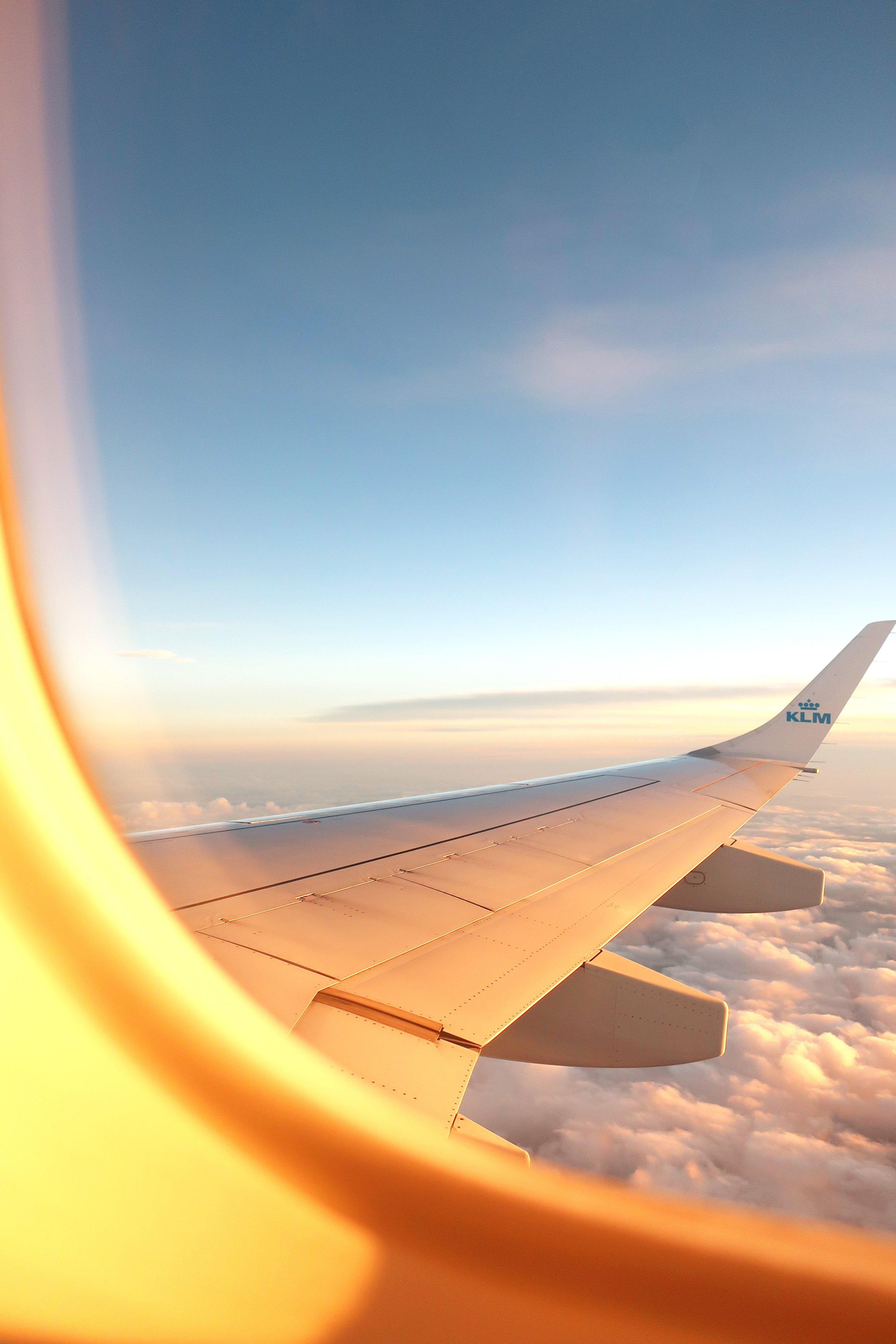 View from an airplane. Photo source Sacha Verheij on Unsplash
