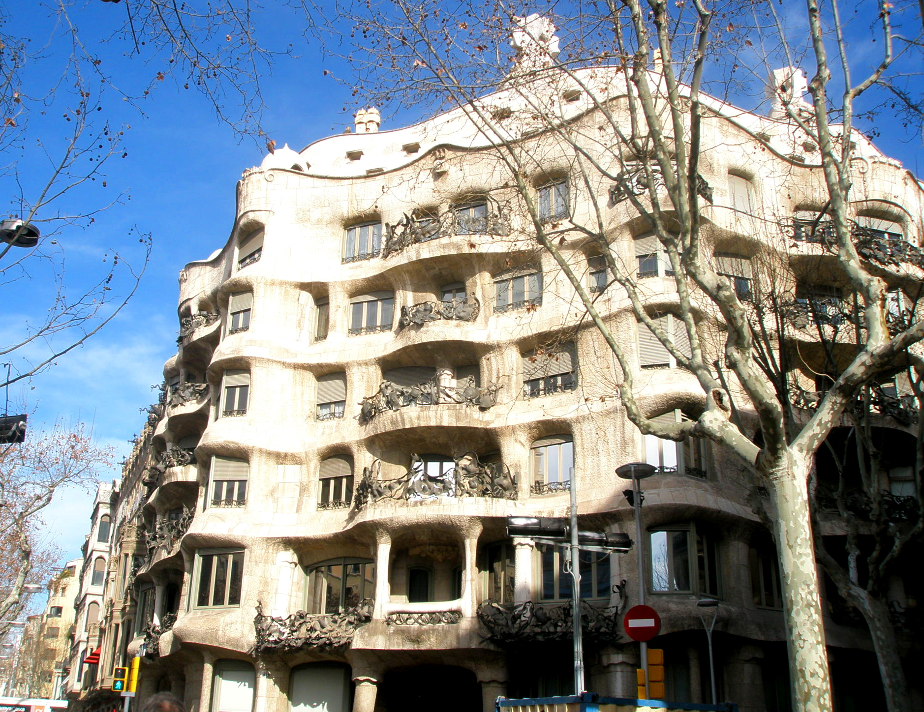 Gaudí's buildings are certainly out-of-the-ordinary.