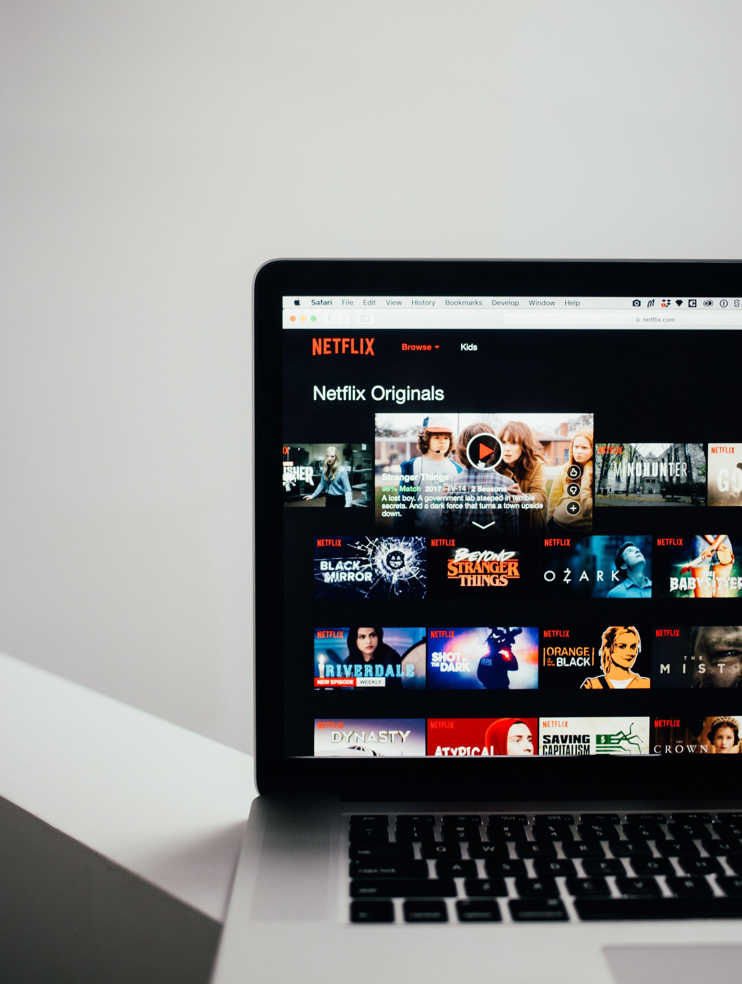 Netflix screen. Photo by Charles 🇵🇭 on Unsplash