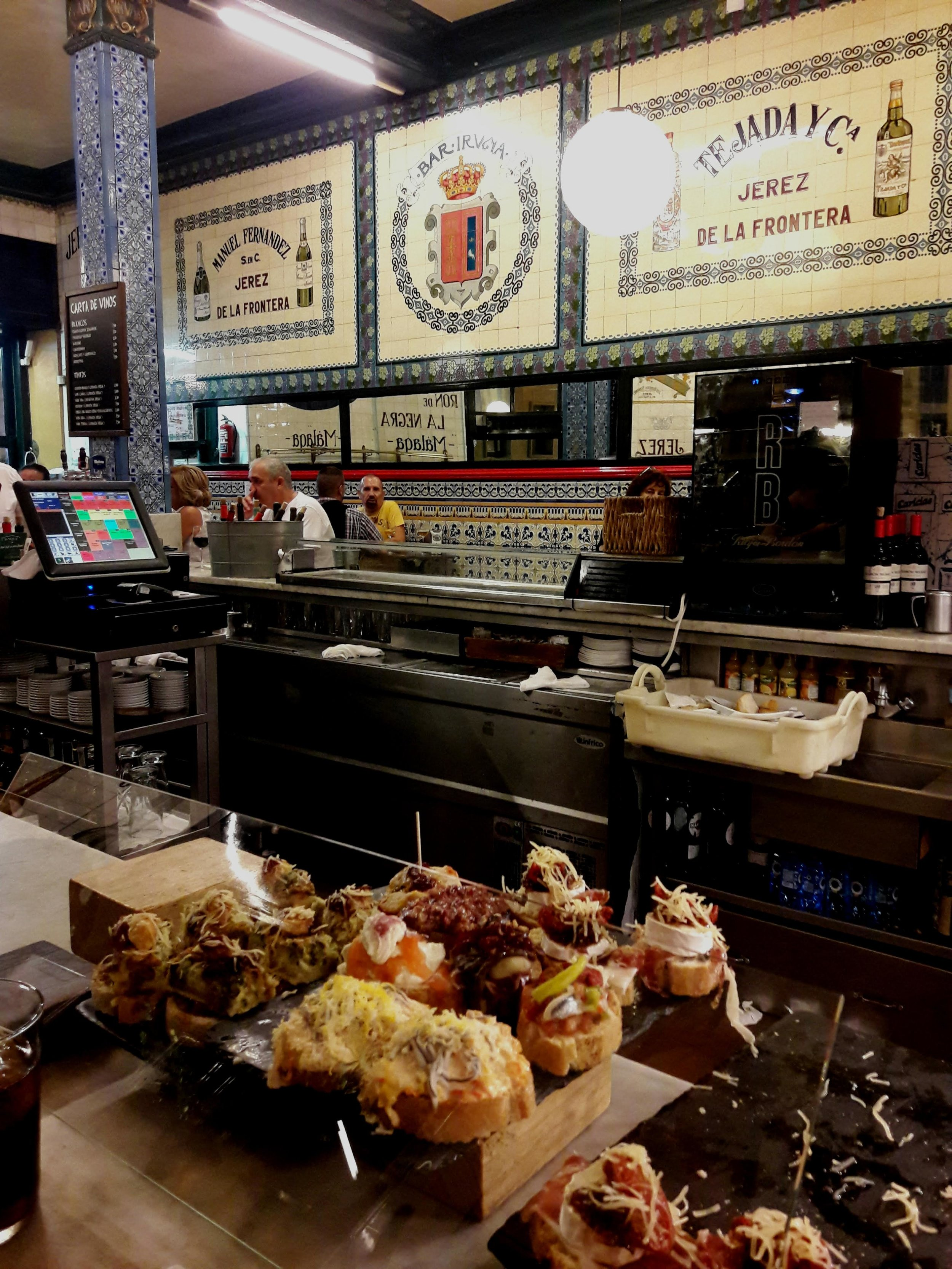 Tapas and pintxos (shown here) are a whole different ballgame!
