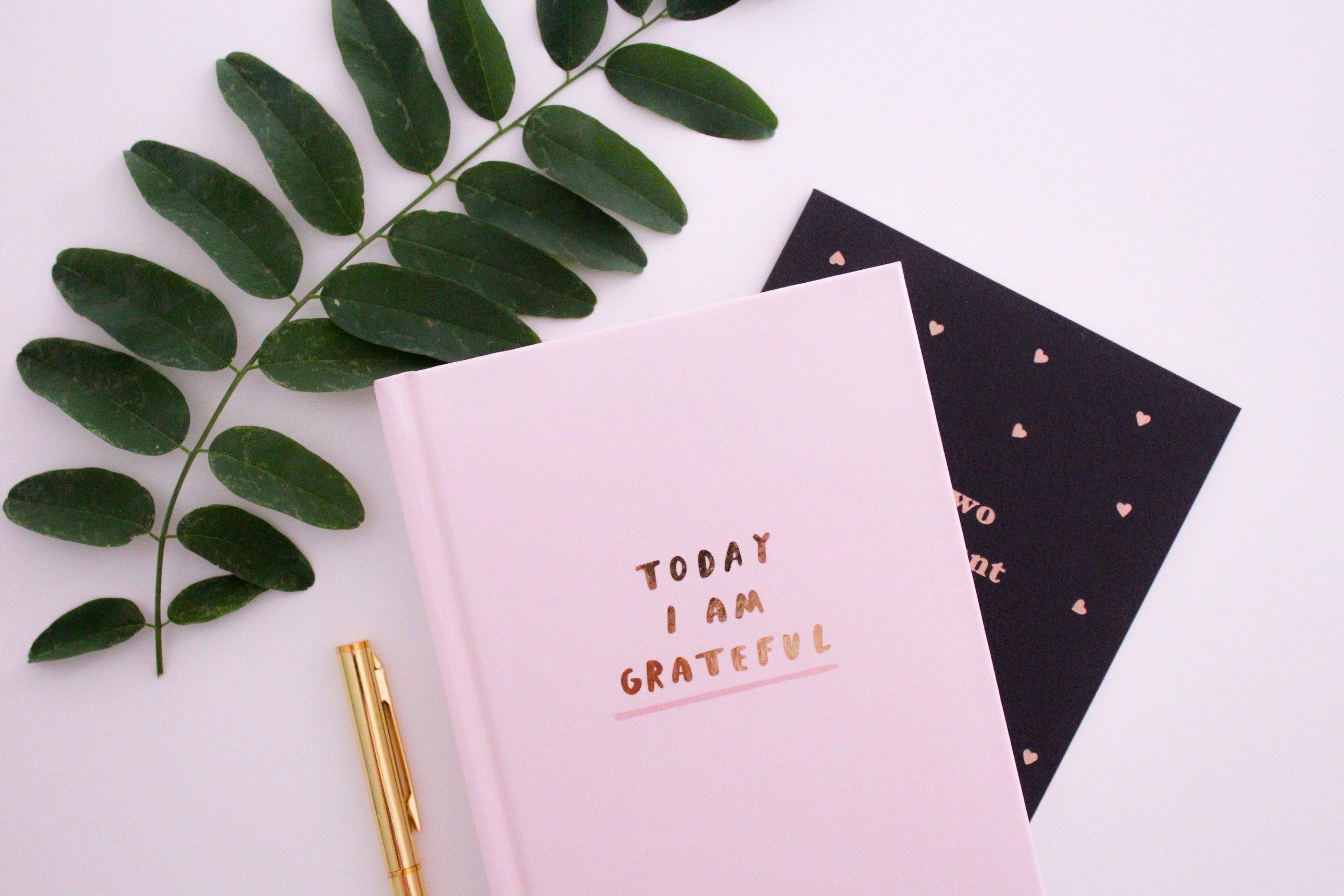 Today I am grateful journal. Photo source Gabrielle Henderson on Unsplash