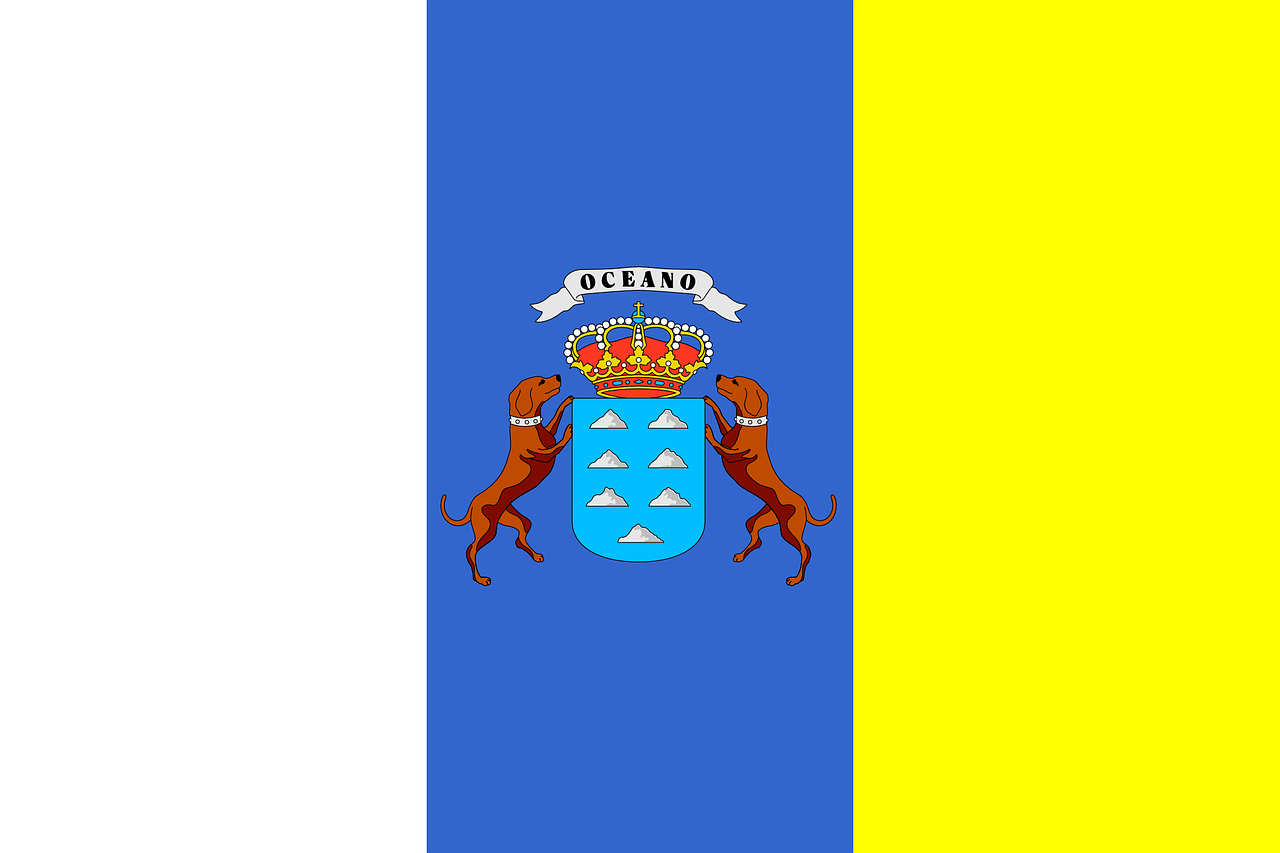 Canary Island flag. Photo by Clker-Free-Vector-Images on Pixabay