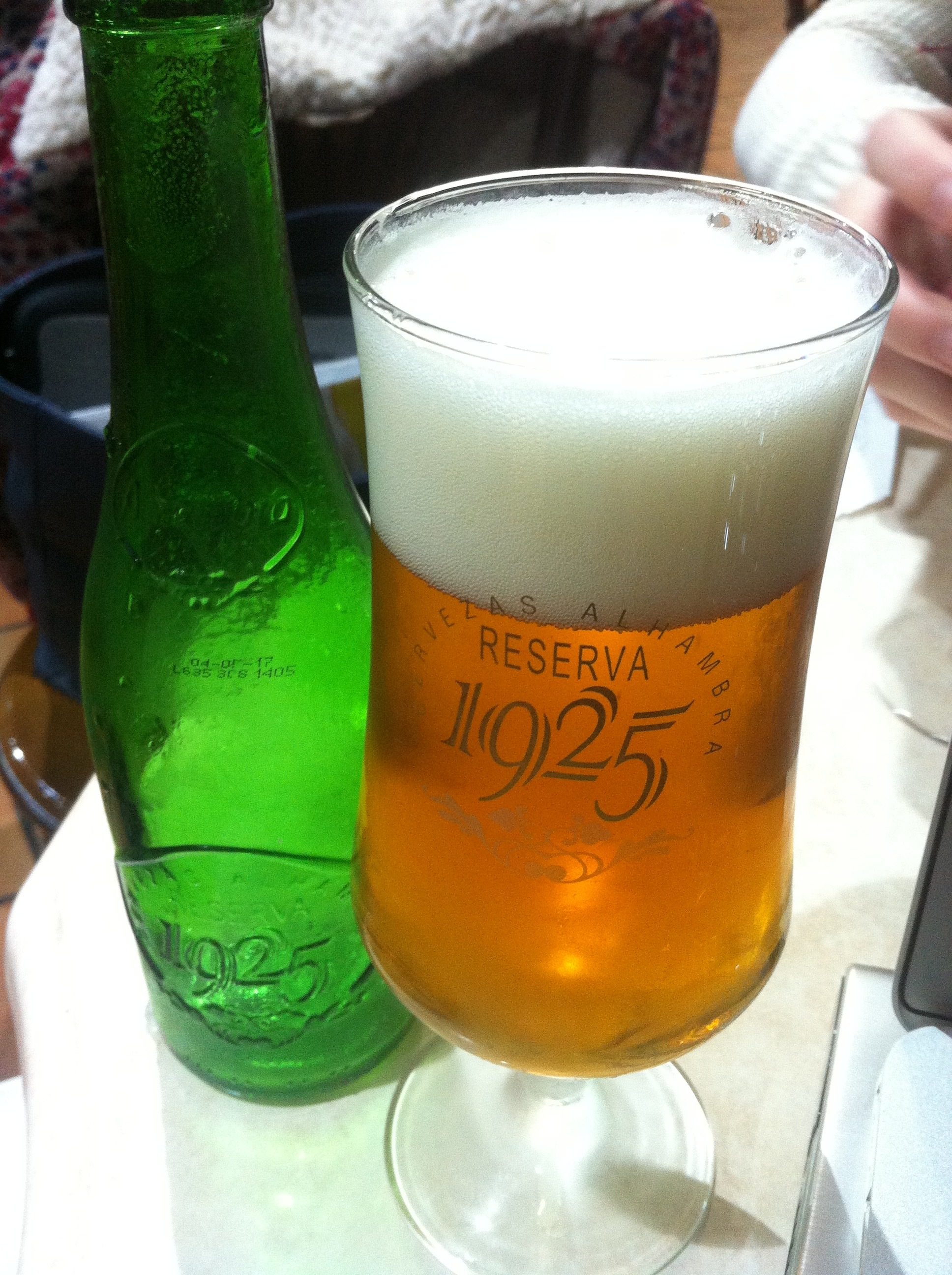 Alhambra's 1925 is a popular bottled beer order in Granada.