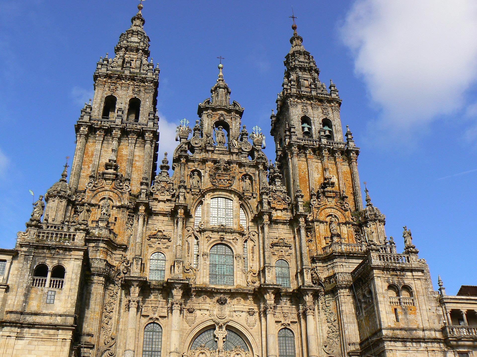 Cathedral of Santiago de Compostela, where Saint James' bones apparently lie.