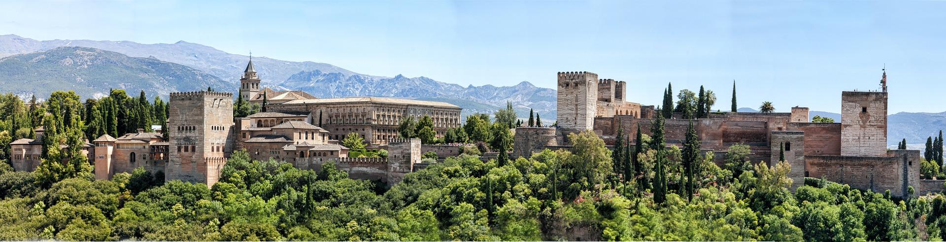 The Alhambra, Granada, Spain. Photo by ddouk on Pixabay.