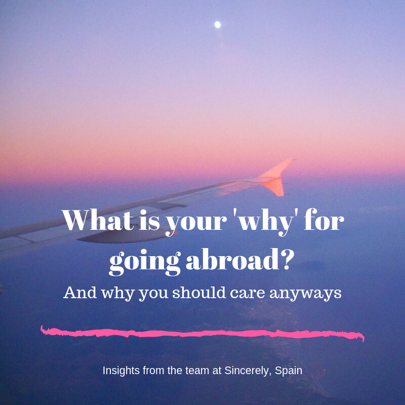 What is your 'why' for going abroad