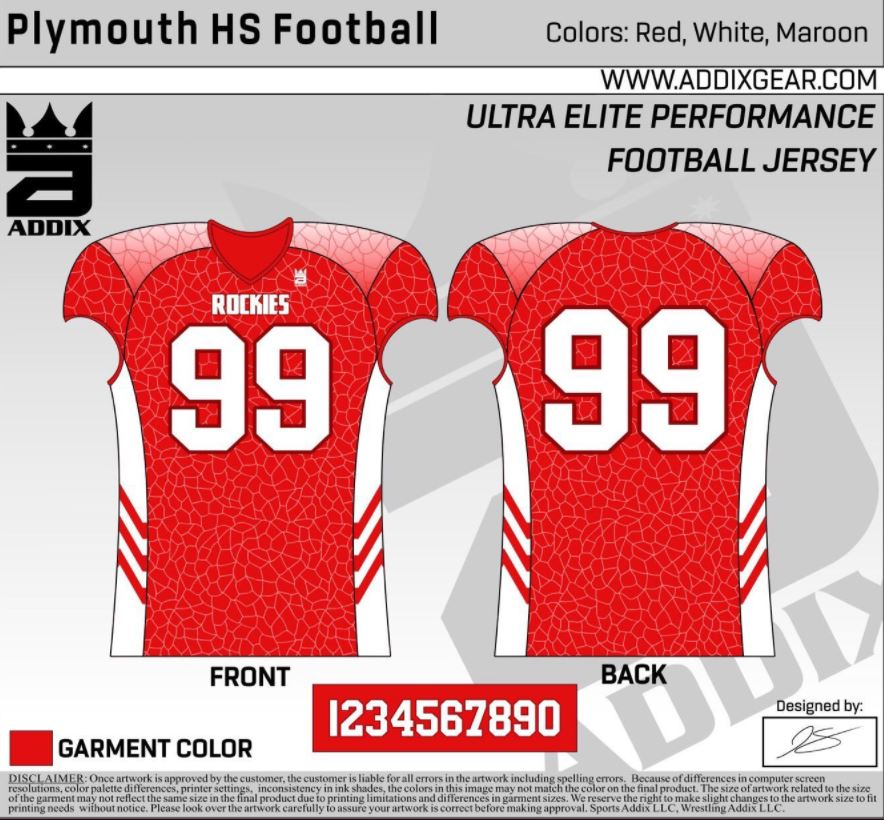 Plymouth's jersey design.