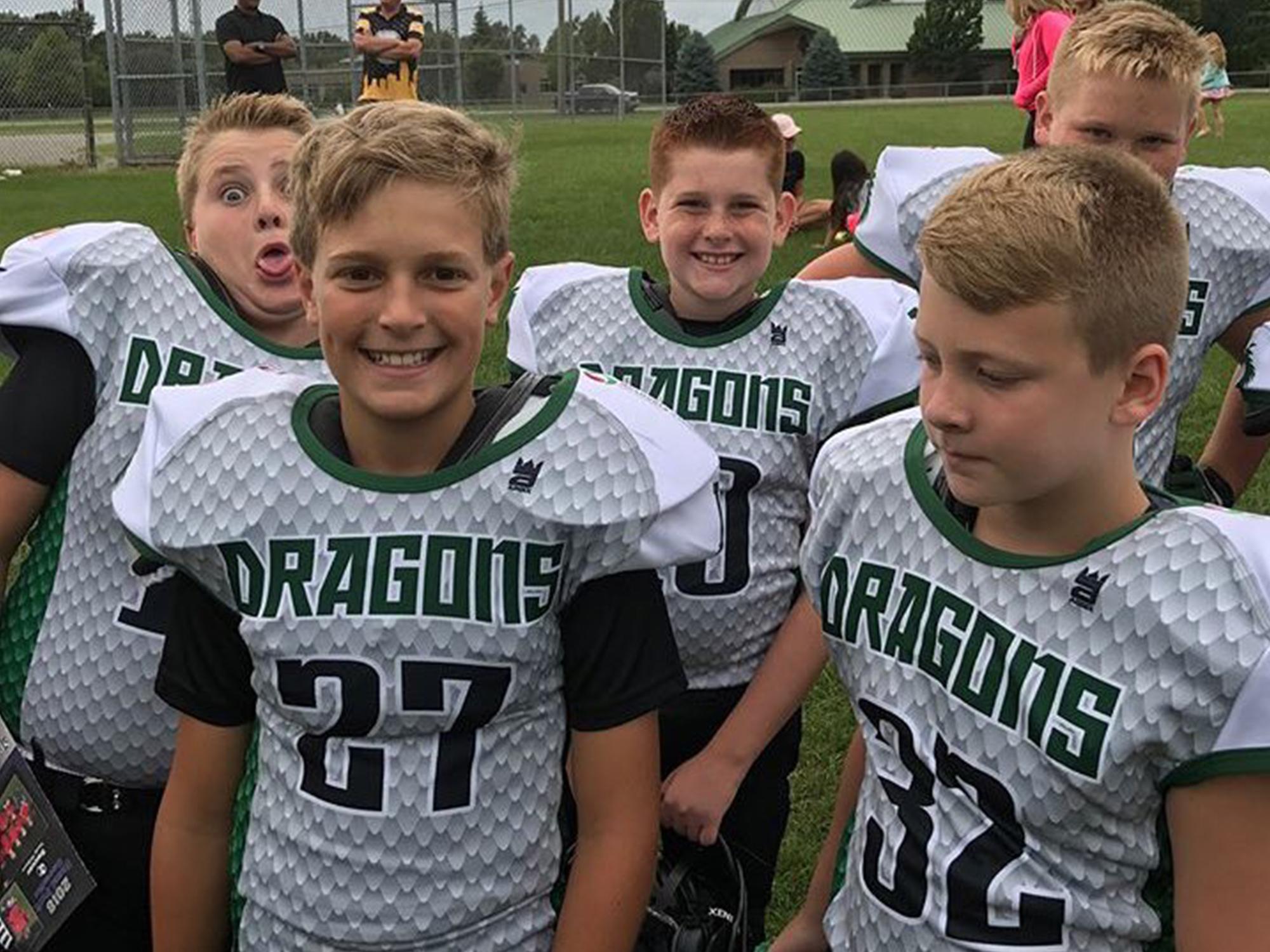 Lake Orion Youth Custom Football Jerseys