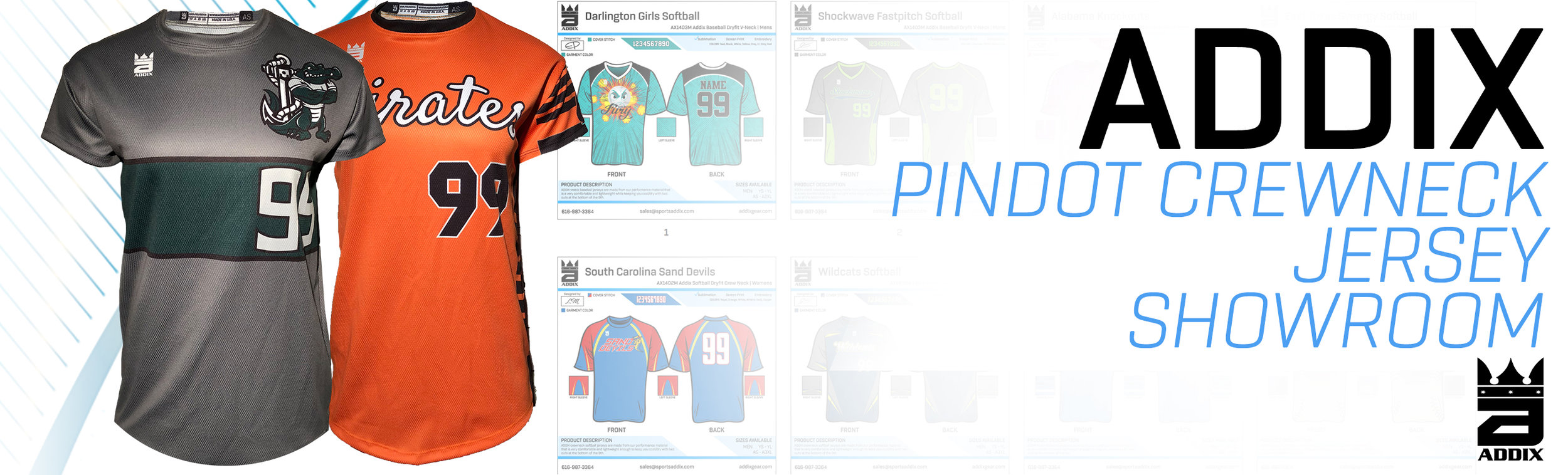 Custom Pindot Softball Jerseys Showroom