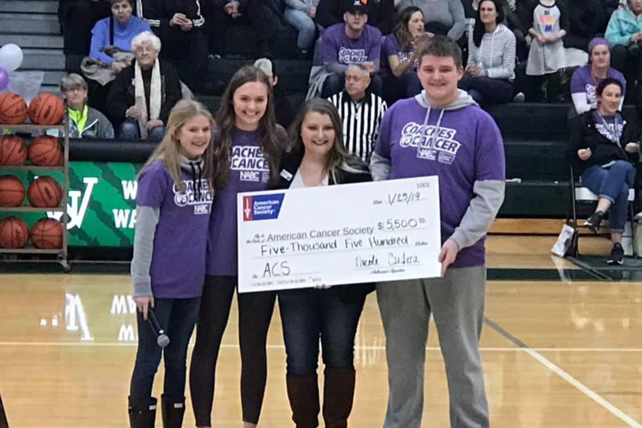 Wayland Union Raised $5,500 During Last Friday's Game -