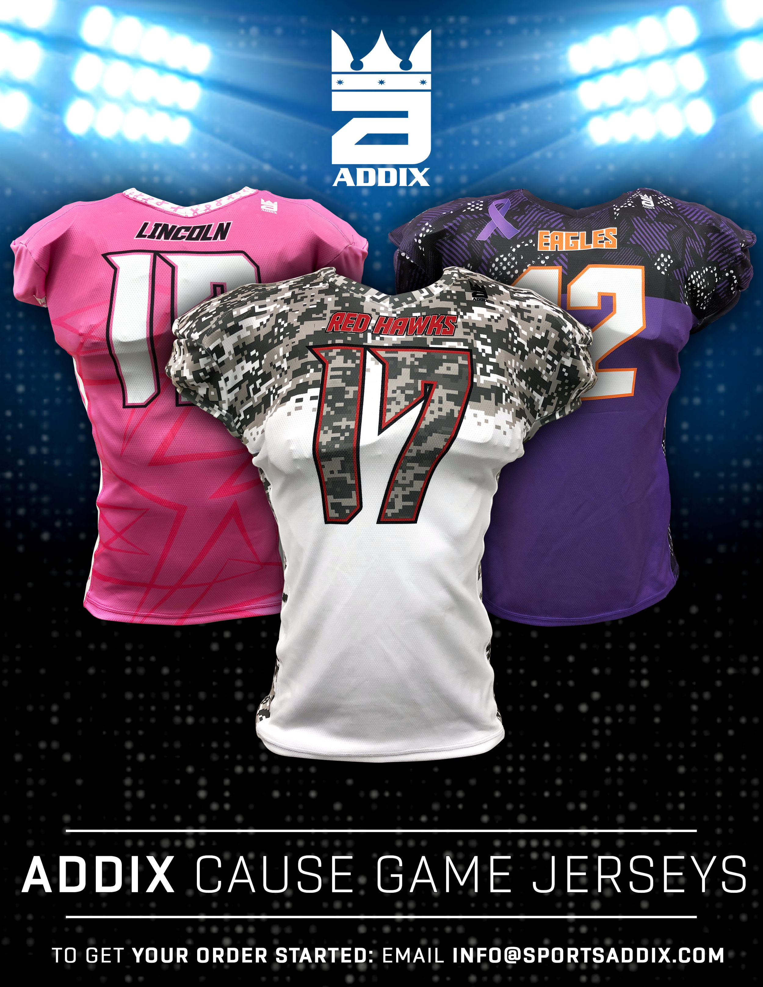 Congratulations to our AGAGB Finalists! - Sign up for winter and spring AGAGB at addixgear.com/giveback, to CREATE Your OWN cause game jerseys OR FAN JERSEYS visit addixgear.com/cub
