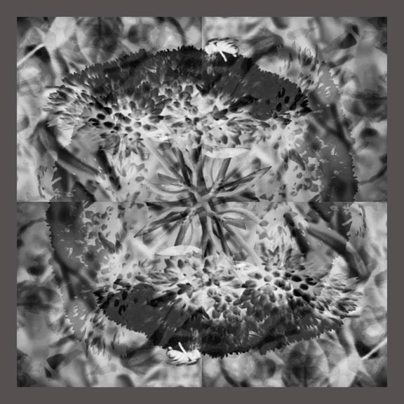 Flower & Bees, Silk Scarf