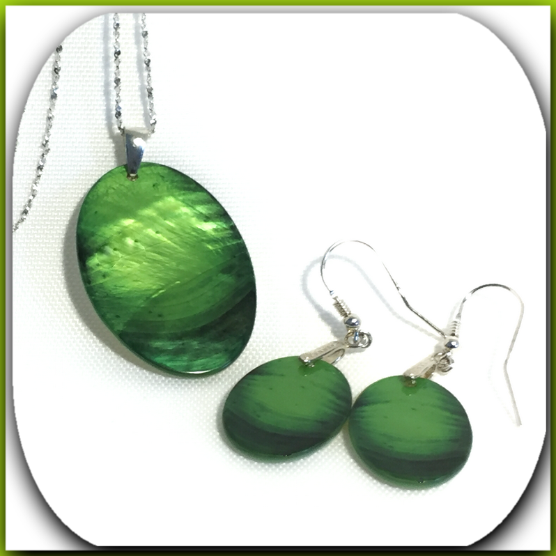 mother of pearl jewelry      a green lime arts exclusive