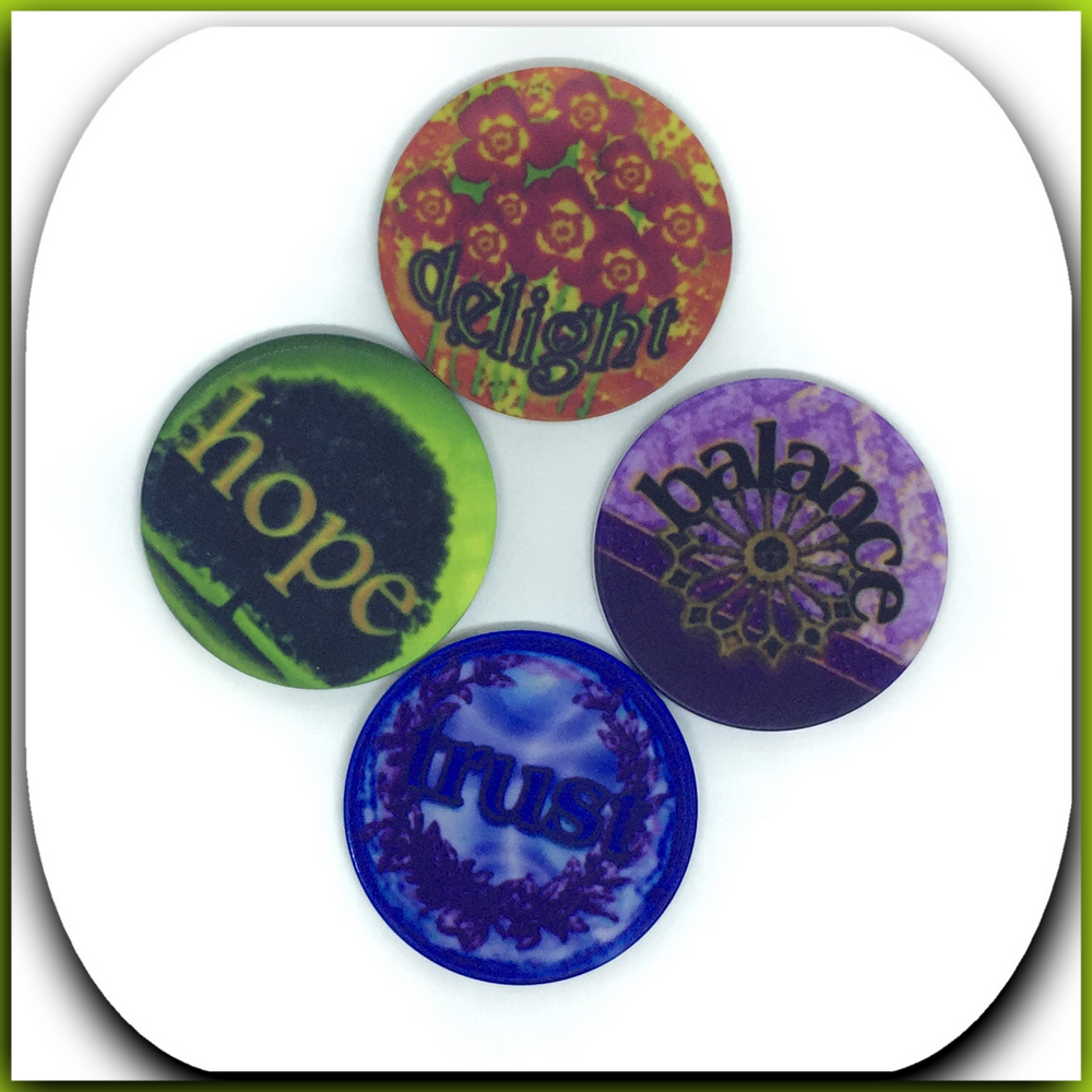 tokens, printed both sides      original photography and design