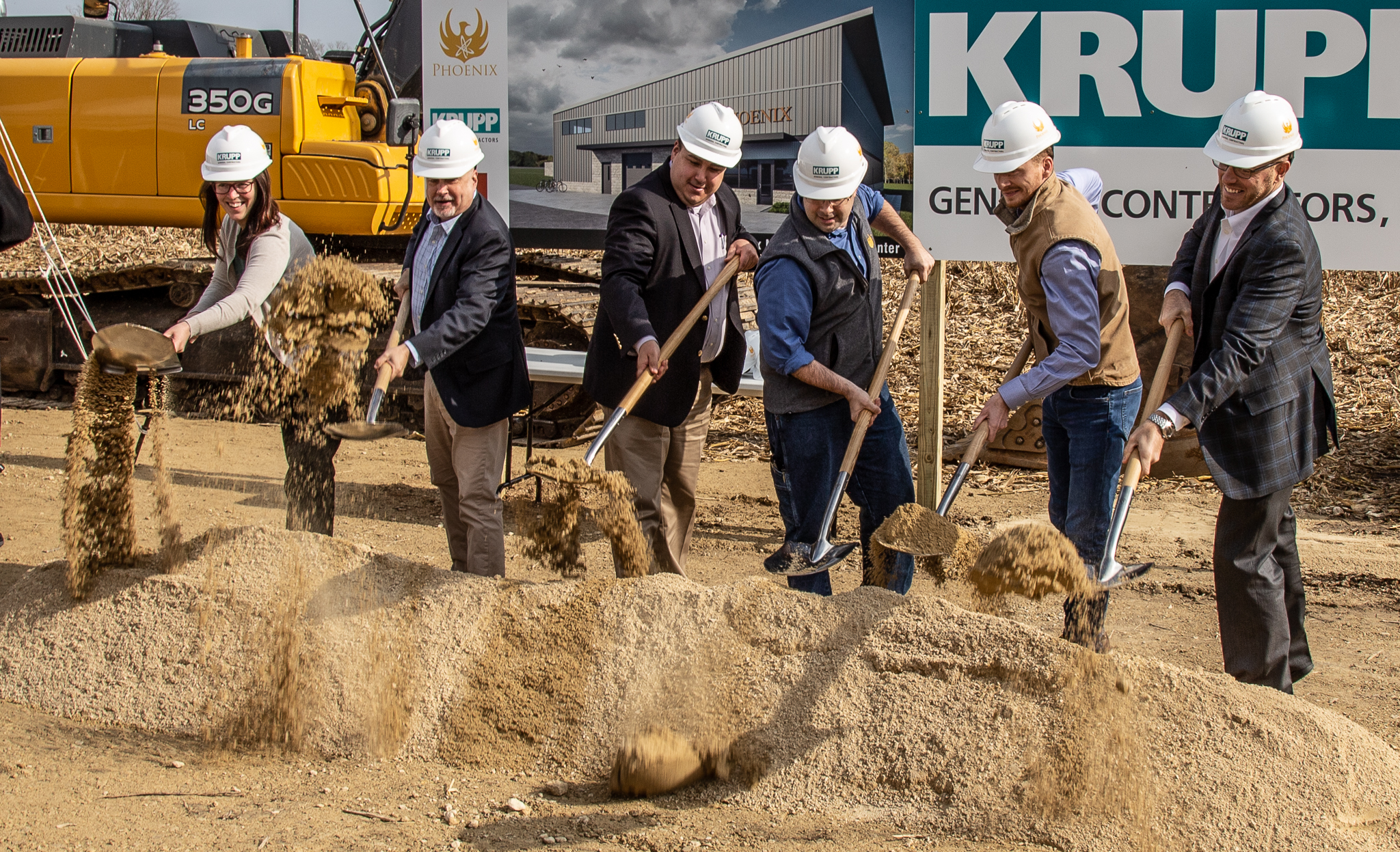 October 2018 - Groundbreaking on the site of Phoenix's upcoming neutron imaging facility in Fitchburg, WI