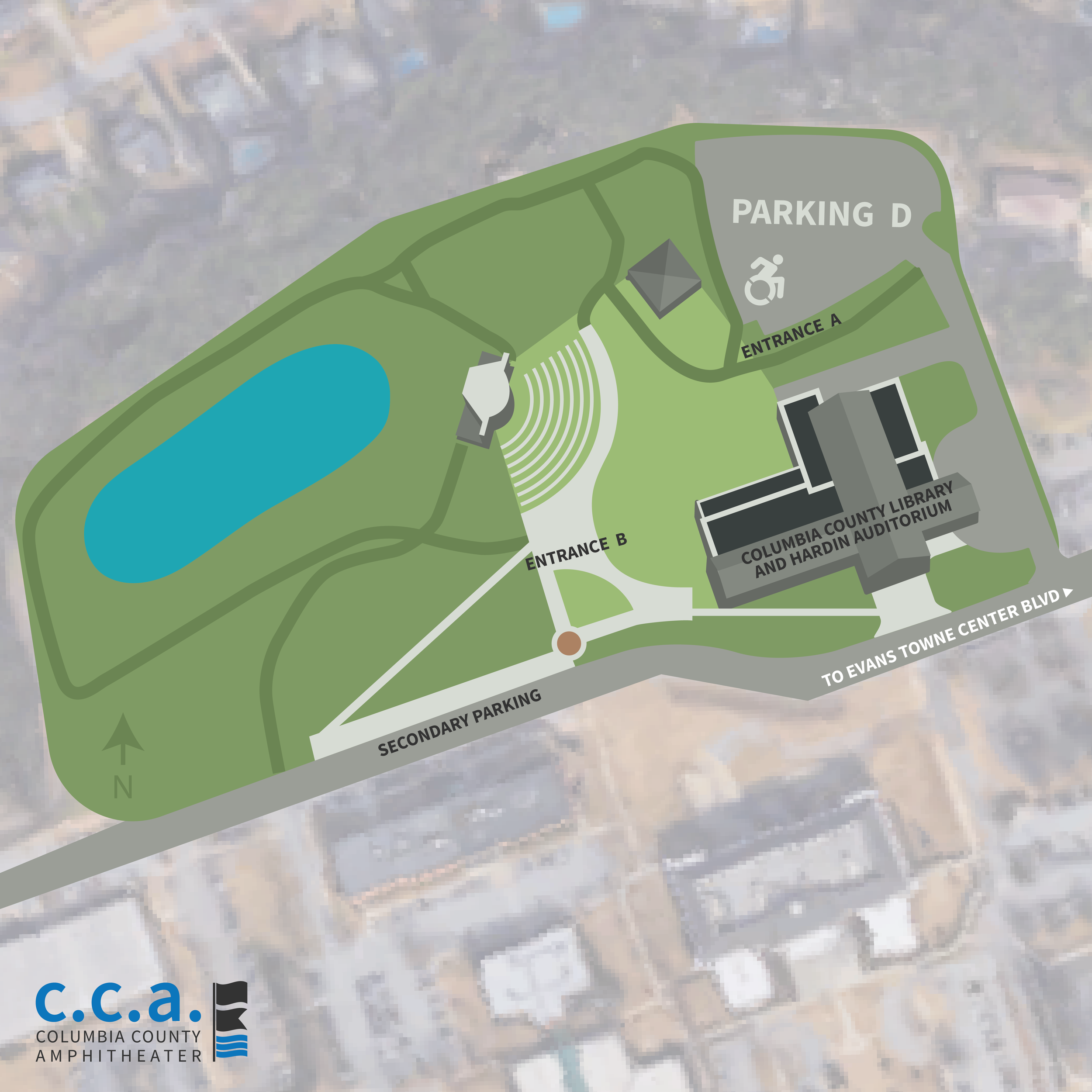 Columbia County Amphitheater Map -