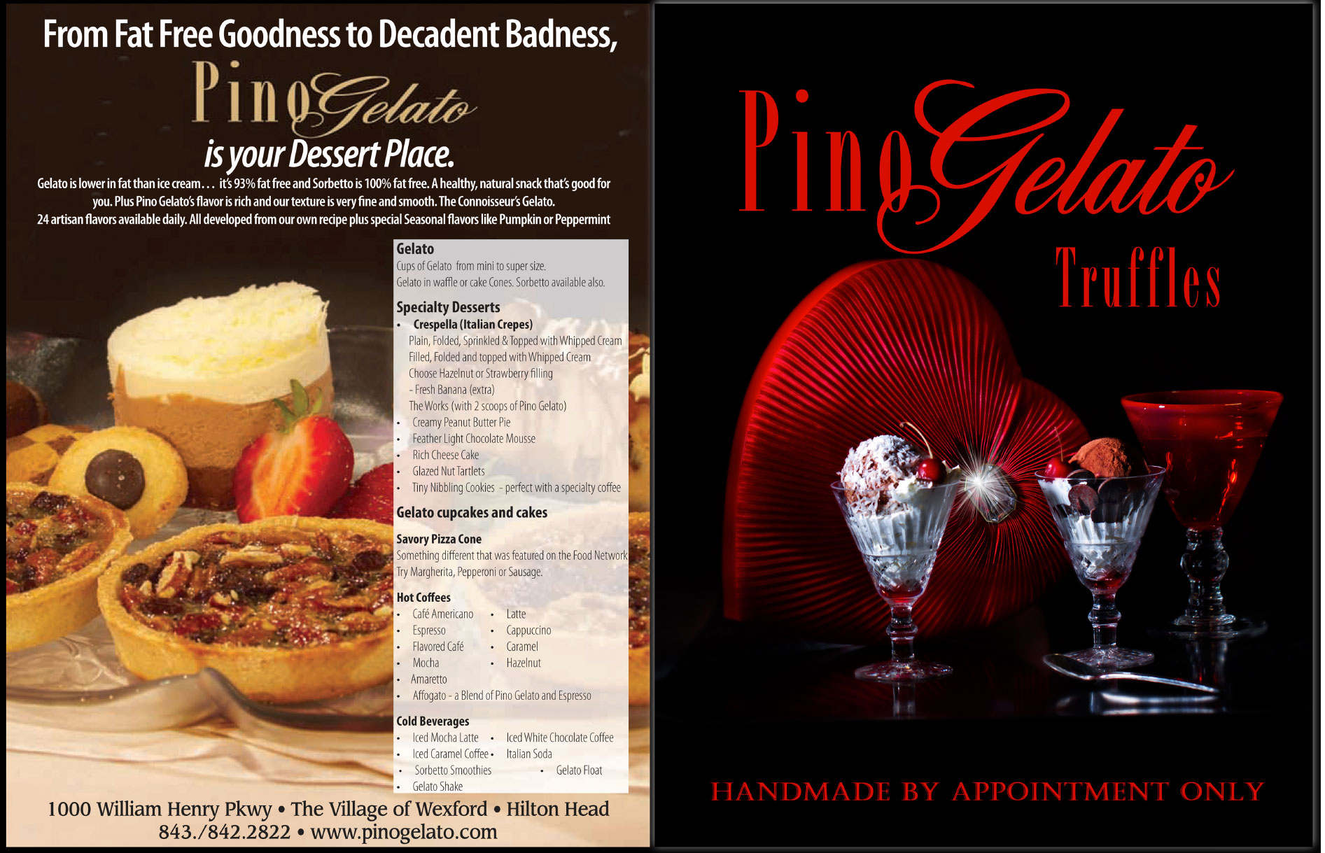 Series of Ads for Pino Gelato
