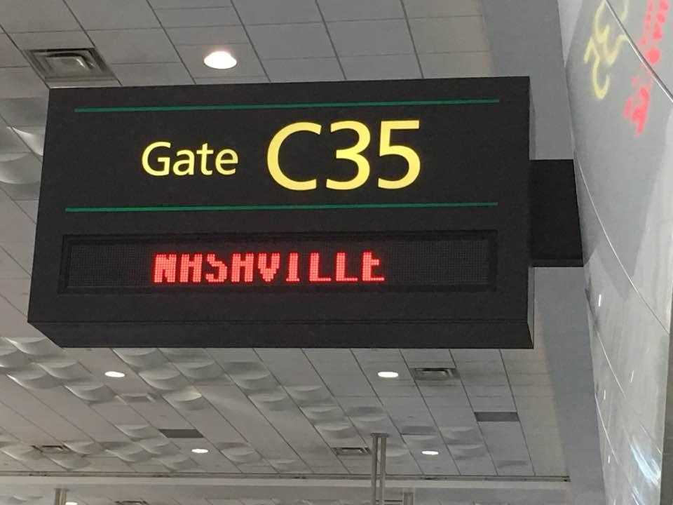 Barbara Jo Kammer's Facebook post on her trip to Nashville