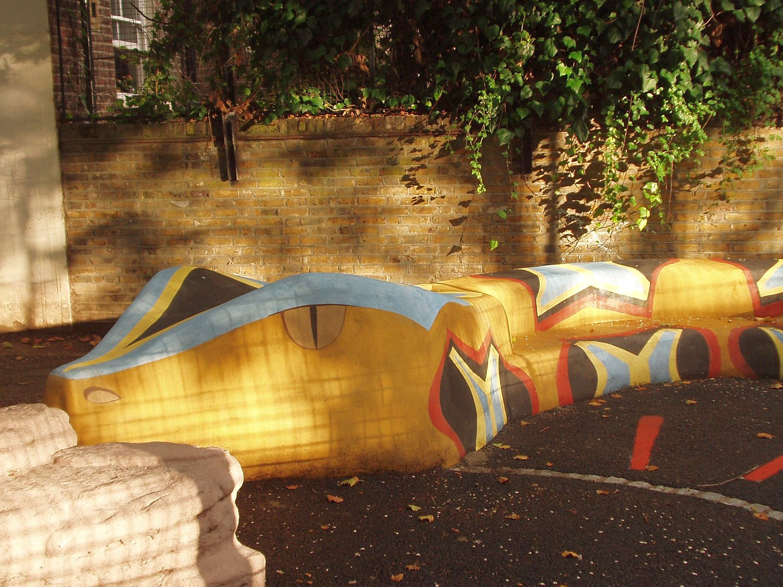 Snake playground, Highgate, London, with Groundwork London