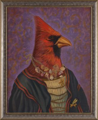 """Cardinal oil 24"""" x 30"""""""