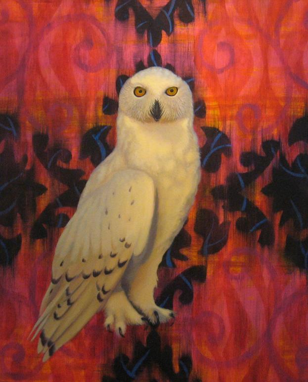 """Snowy Owl oil on canvas 24"""" x 36"""""""