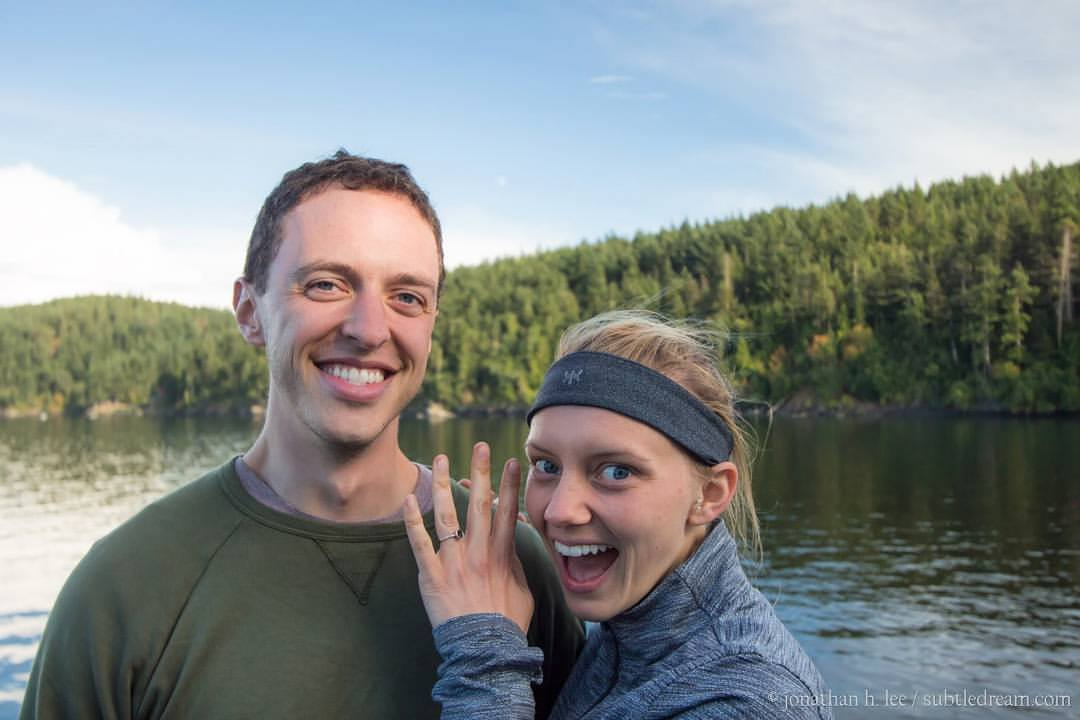 We took this photo several months after their engagement in 2015 on an overnighter bicycle trip to Orcas Island. So amazing to have cultivated a deep friendship together and capture their special day!