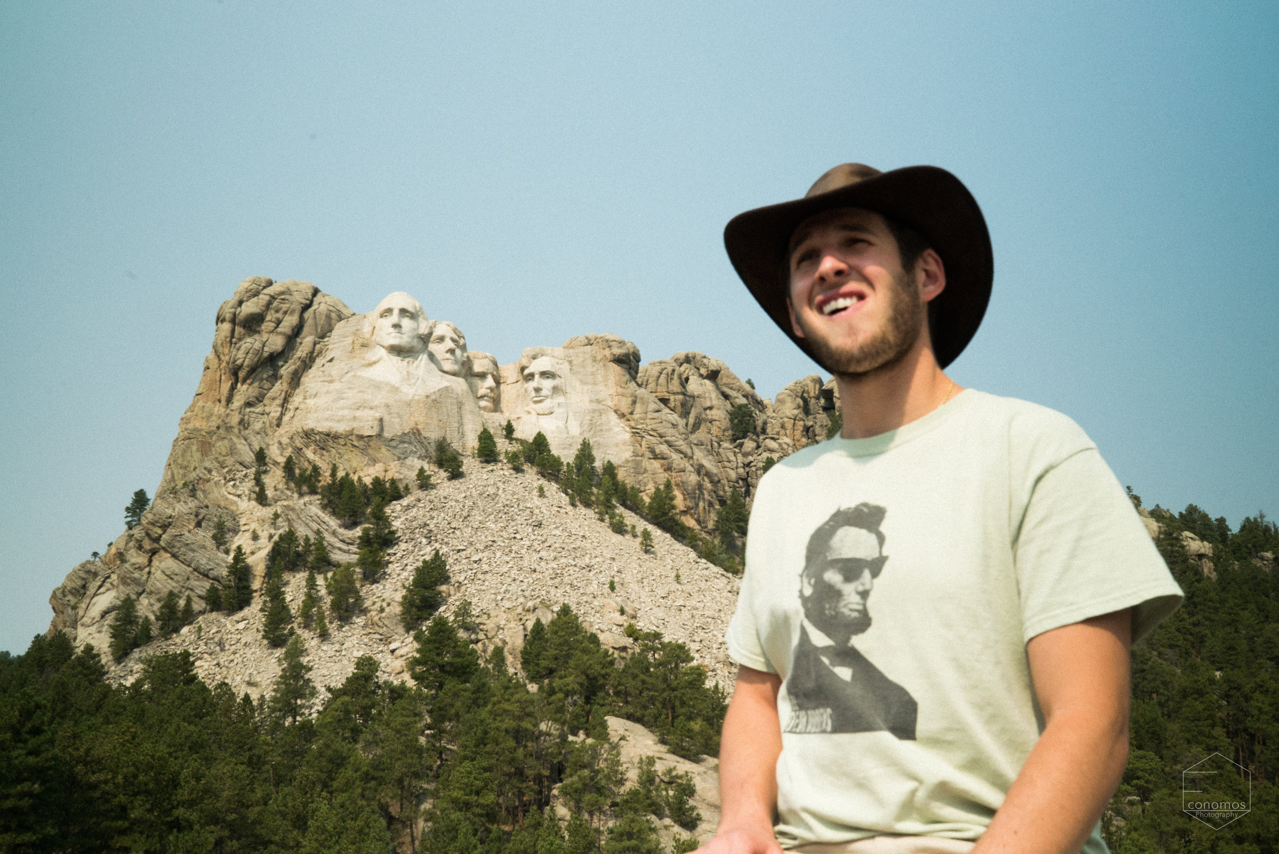 Lincoln on a mountain, his shirt, his heart