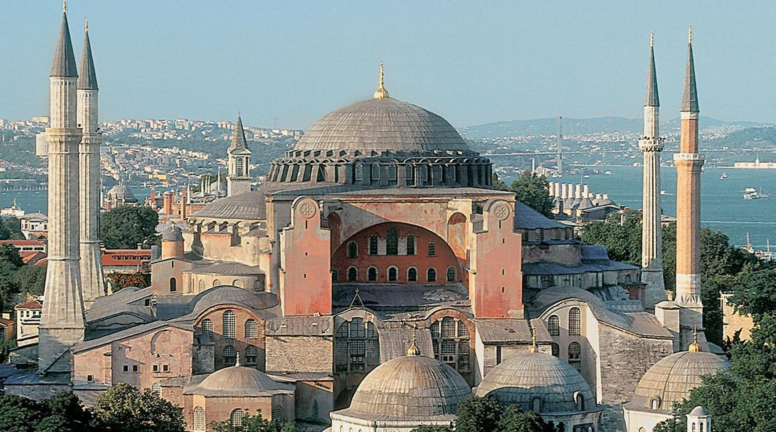 Agia Sophia, formerly the Cathedral of Constantinople, in Istanbul