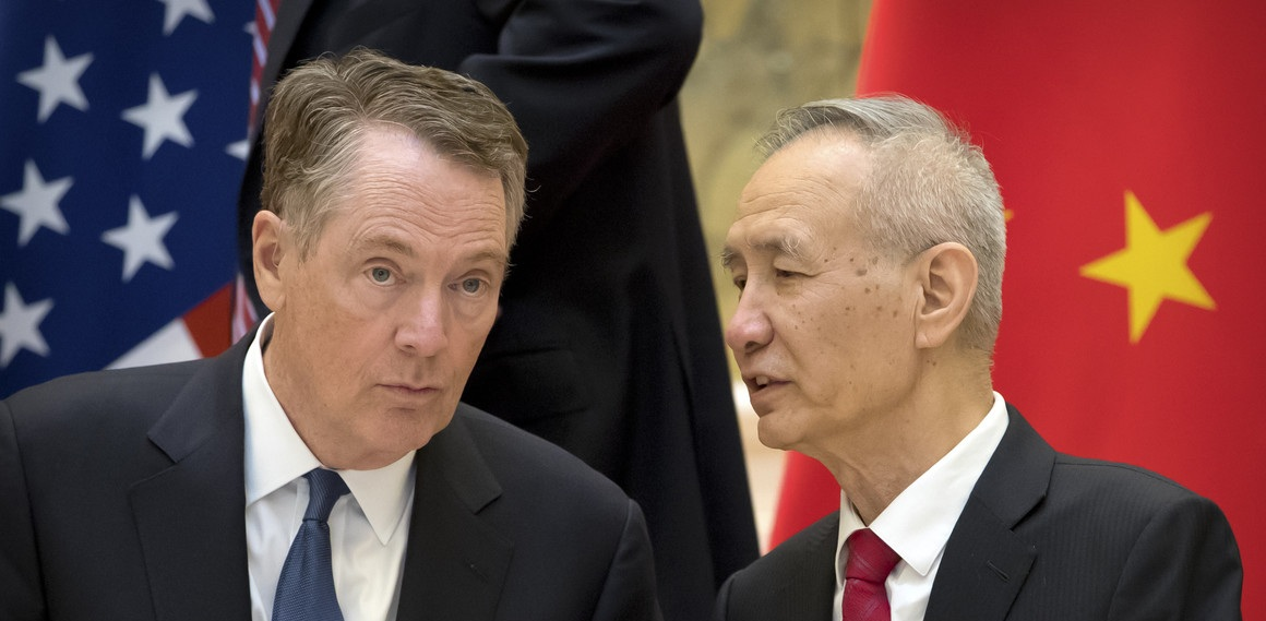 USTR Robert Lighthizer and Chinese Vice Premier Liu He