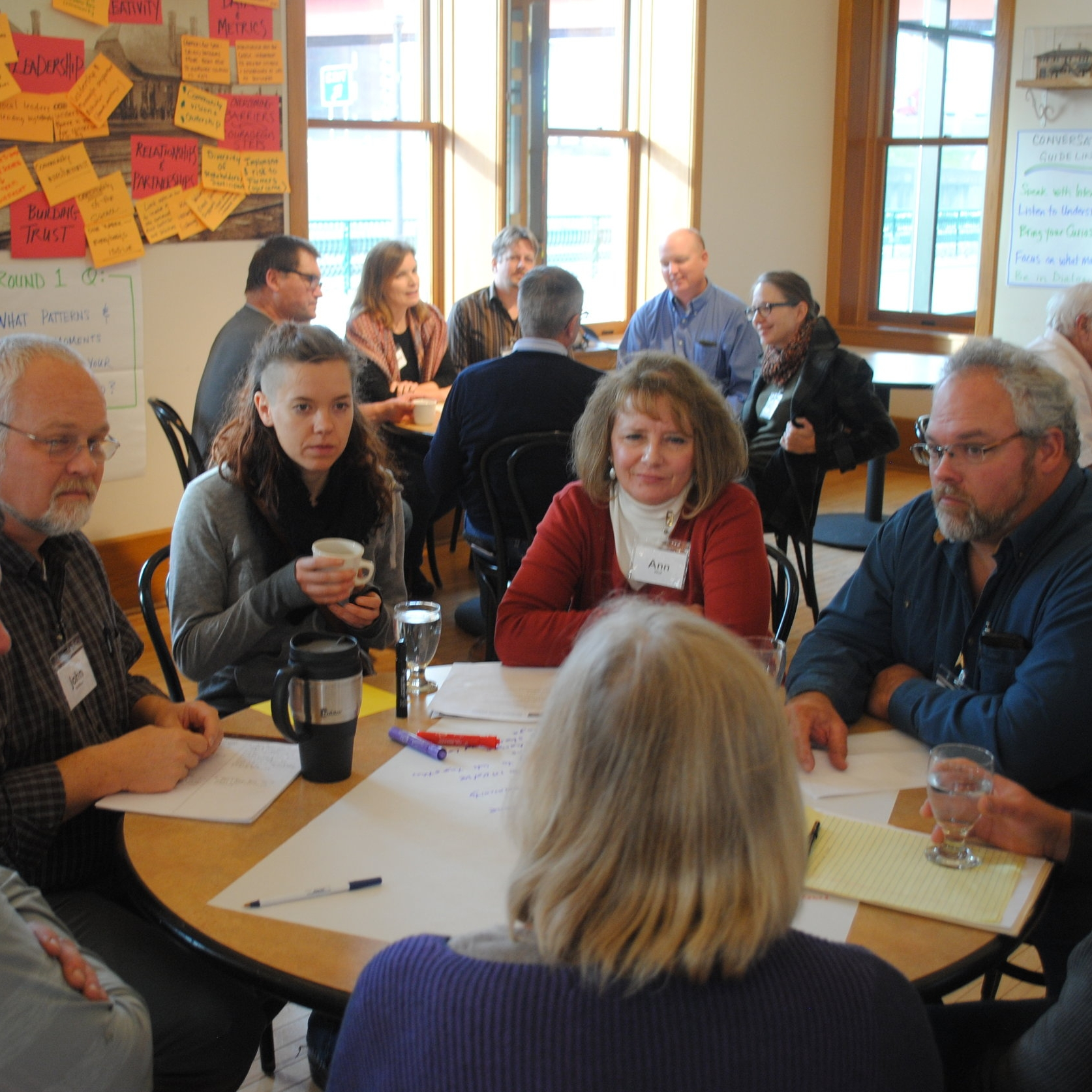 Watershed Leaders Network - Farmers from the 5 states in the Upper Mississippi River Basin gather in peer-to-peer learning, along with agricultural agency staff, watershed coordinators, ag retailers, recreational landowners and others who care about finding ways to protect water quality through better farming practices. We've hosted 4 residential gatherings to date with a growing list of requests to bring WLN to more watersheds across the region. Read more here.