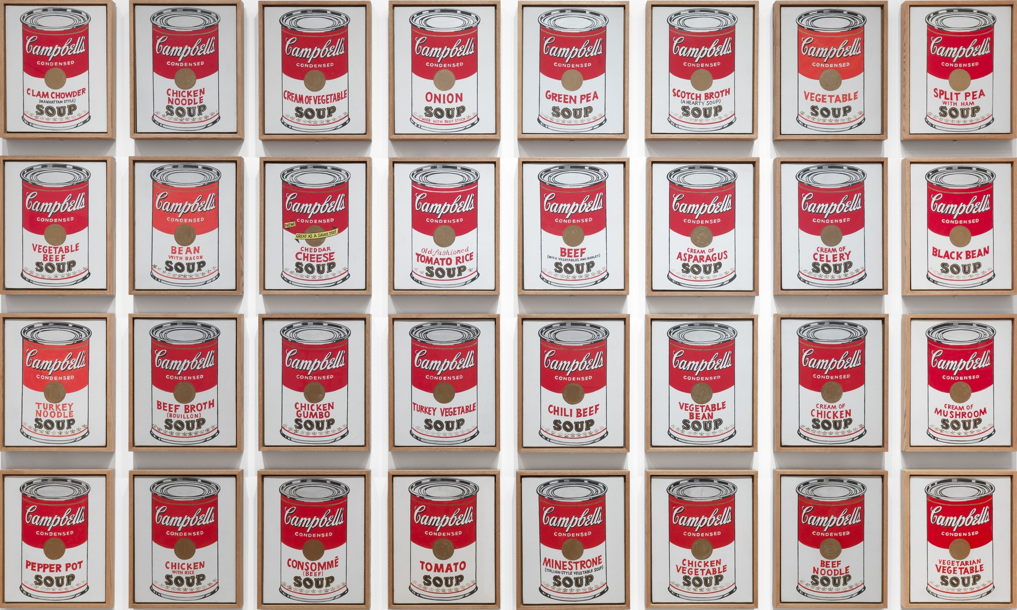 Andy Warhol, Campbell's Soup Cans , New York, Museum of Modern Art, 1962