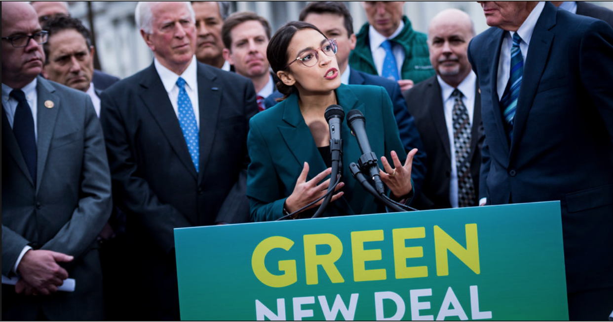 "From: Lisa Freidman, ""What is the green New Deal,""  NYTimes , Feb. 21, 2019. Photo: Pete Marovich."