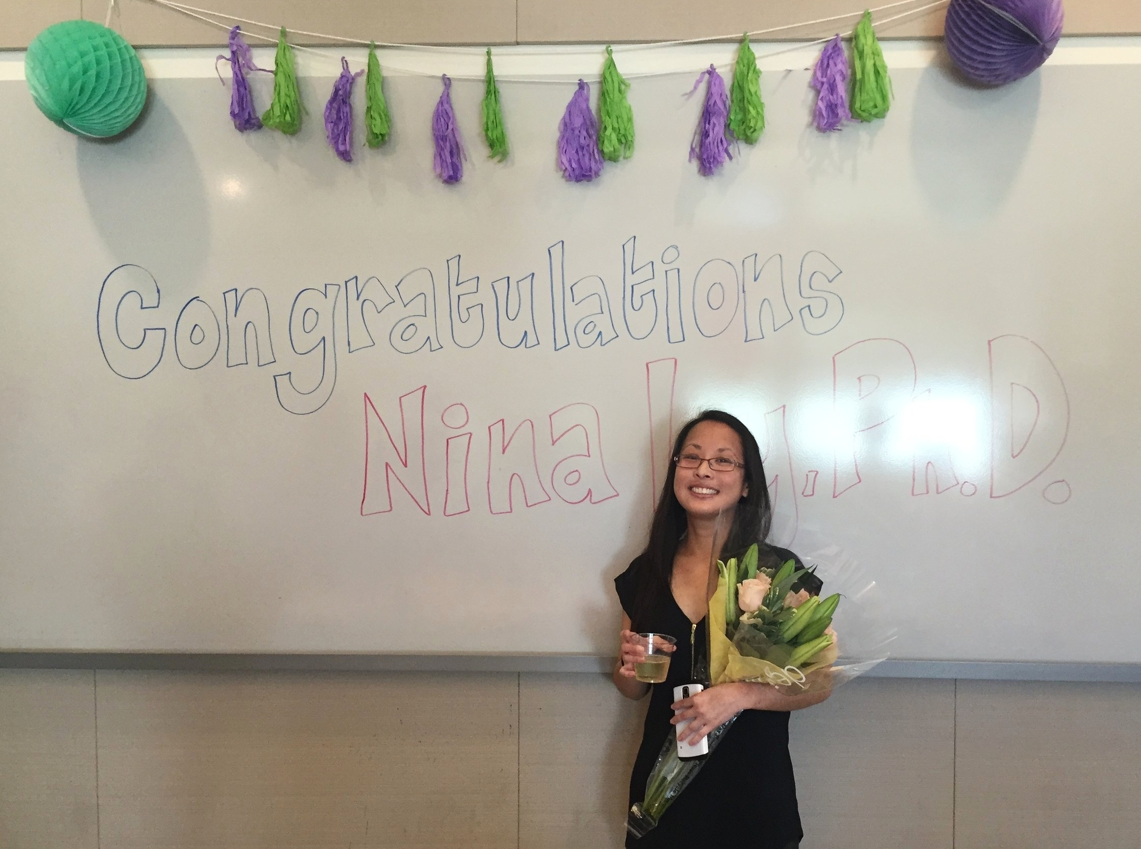 - Nina defends her thesis! Congrats Dr. Ly!