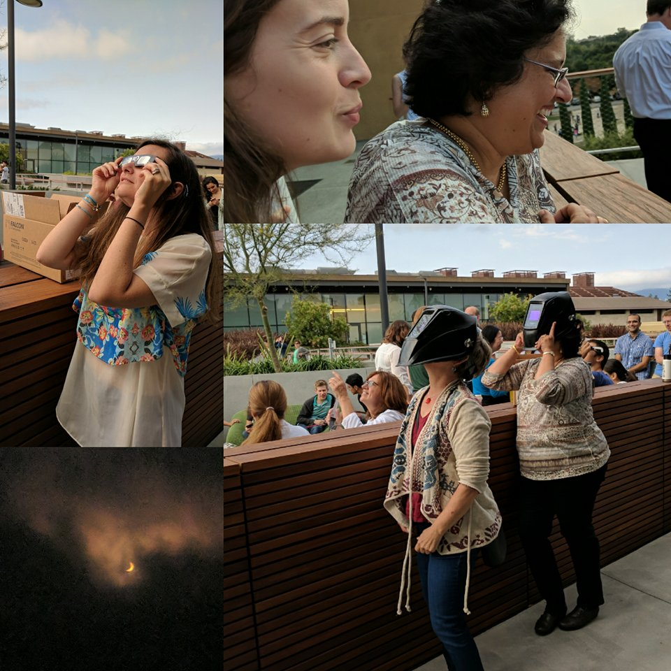 - The lab (safely) views the solar eclipse!