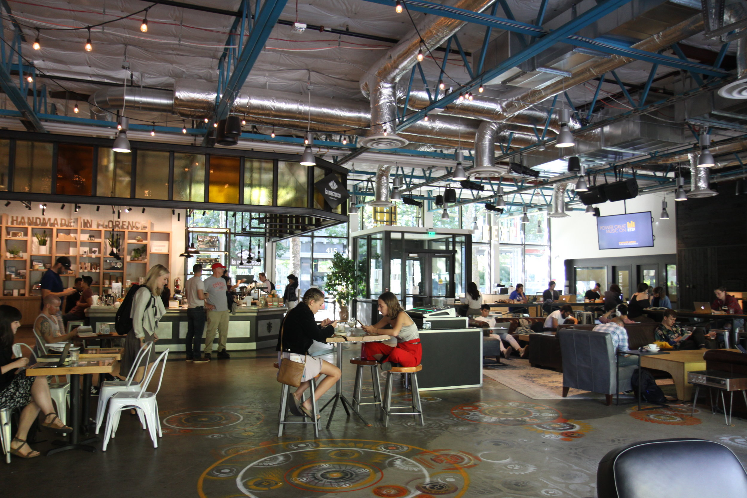 The kexp gathering space is a three-minute walk from The Downtown School.