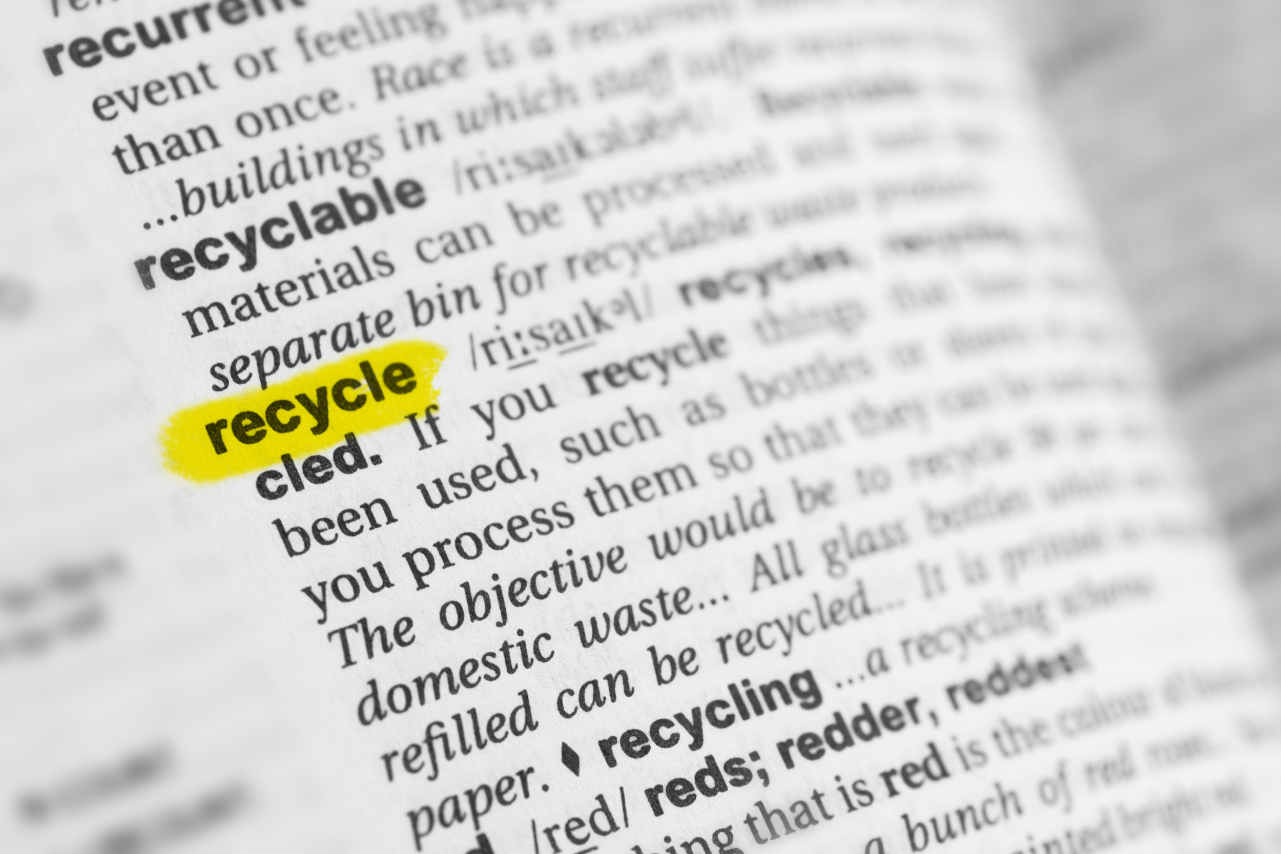 Glossary of Recycling Terms -