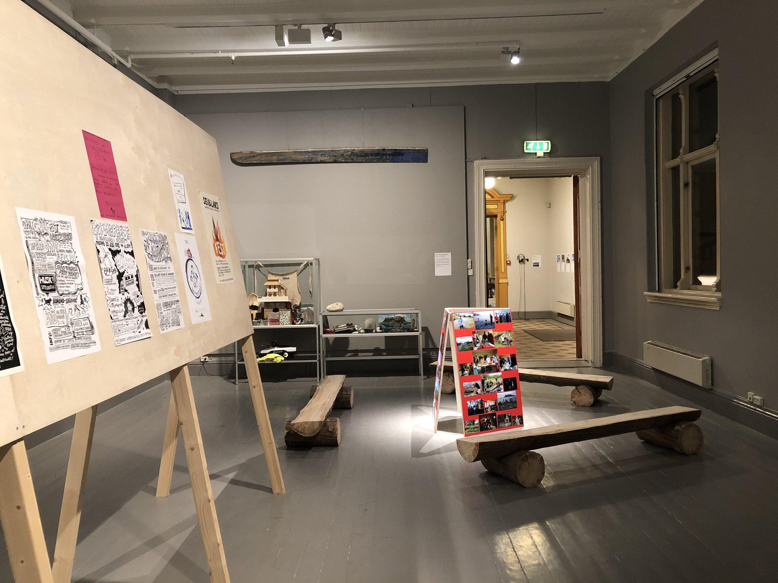 Dokumentasjon av prosjektet  Sørfinnset Skole / The Nord Land (pågående)  av Søssa Jørgensen og Geir Tore Holm. Foto: Hilde Sørstrøm