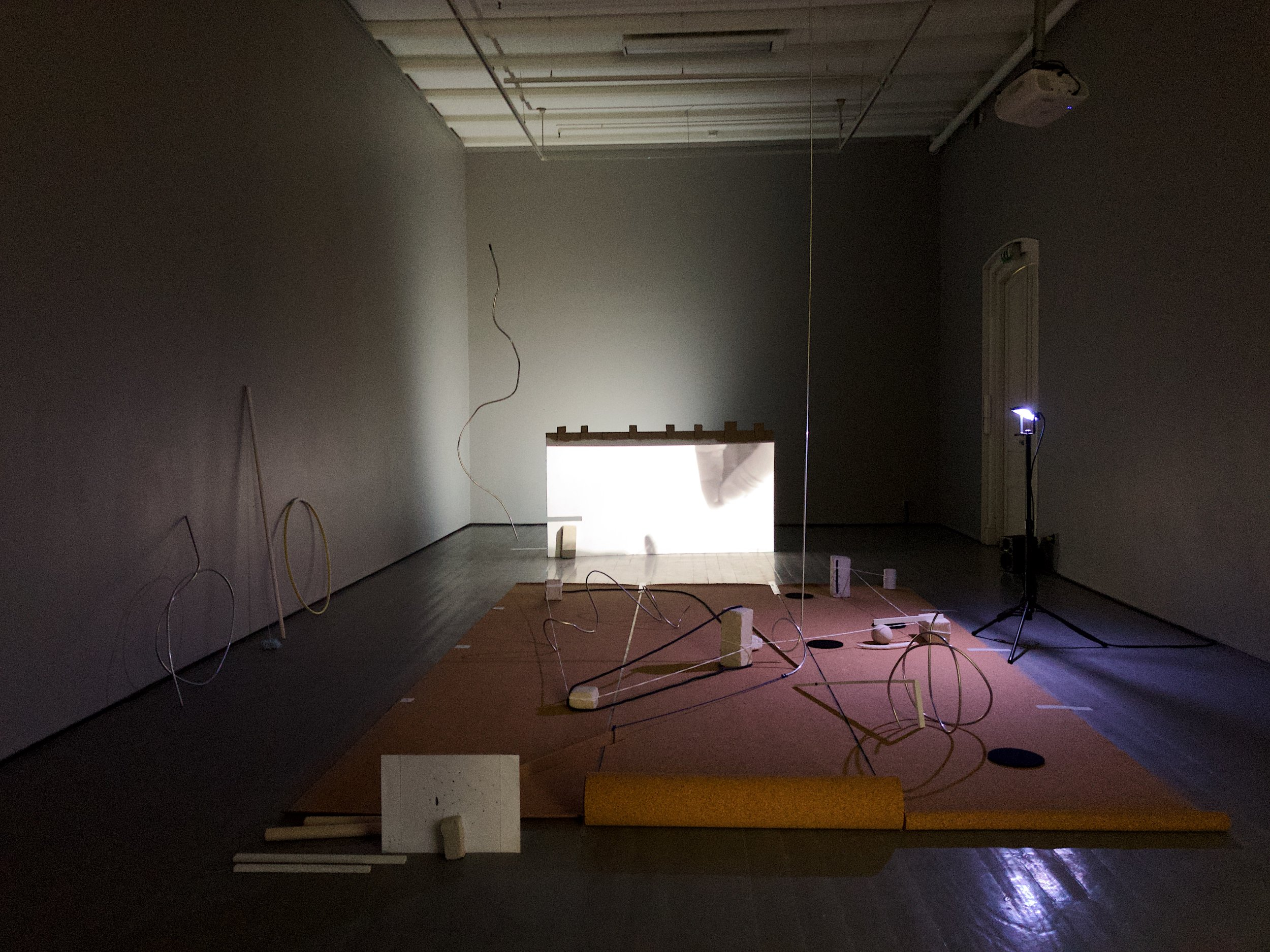 Julie Whiid Cetti (MA): When the Drums Hit the Ear, the Lines Start to Bend (2019). Mixed media and performance. Photo: Hilde Sørstrøm