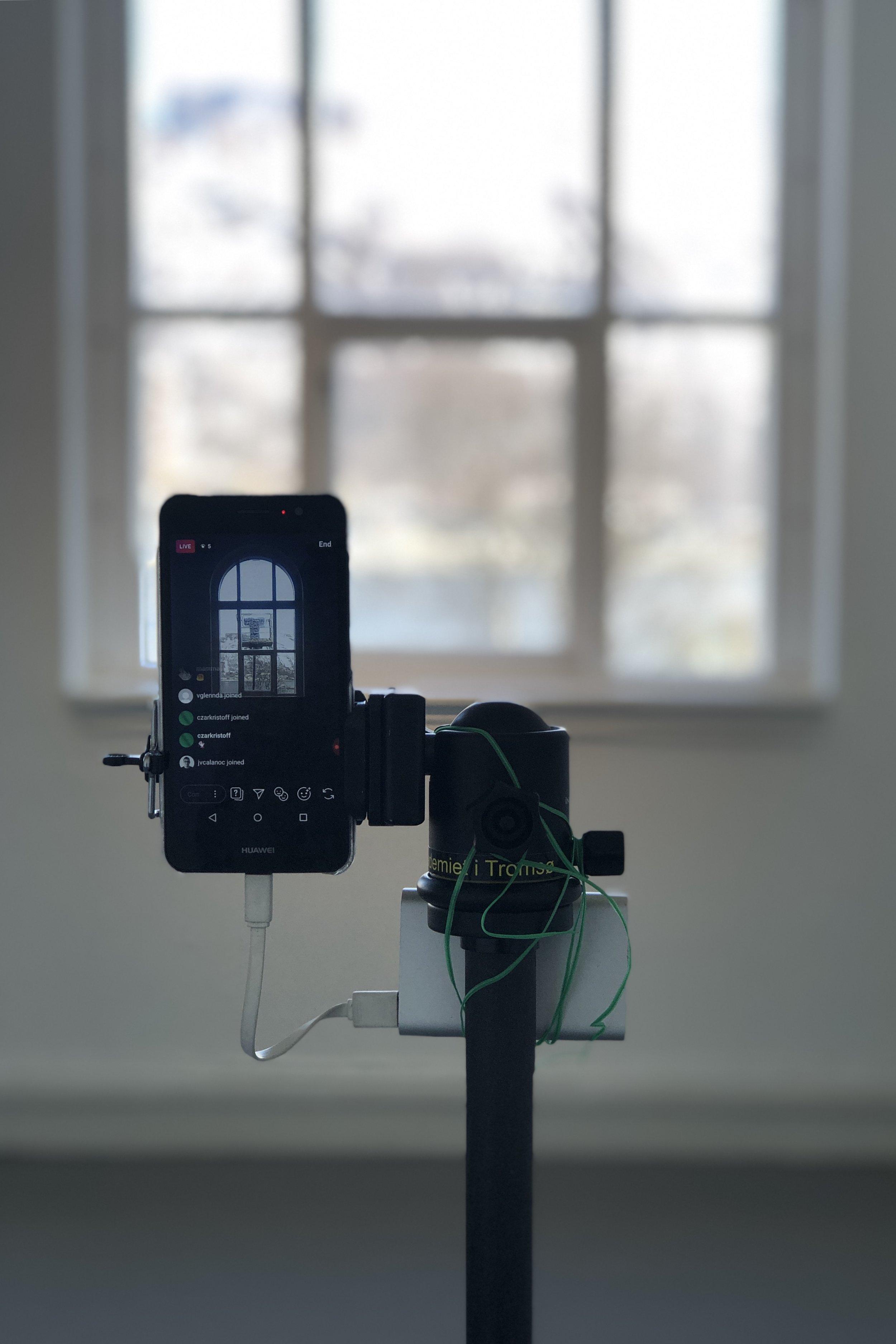 Alfred Marasigan: The Infinitesimal Rose (2019) Collaborative occurence and livestream, 90 minutes. Photo: Hilde Sørstrøm