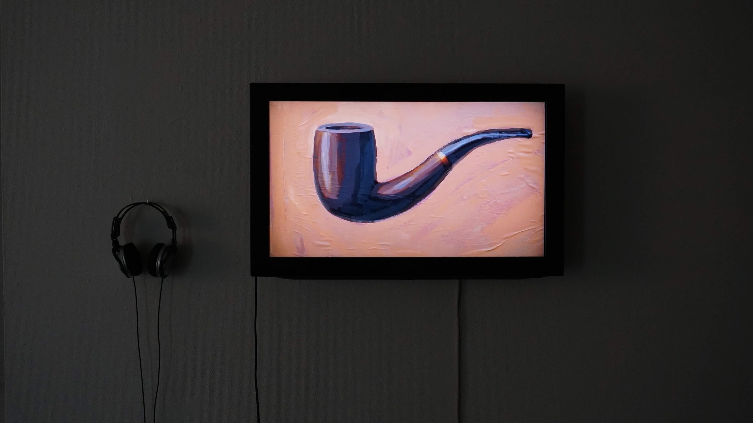 Yohannes Mulat Mekonnen (MA): This is a pipe (2019) Animation, 1:26 minutes loop. Photo: Yohannes Mulat Mekonnen