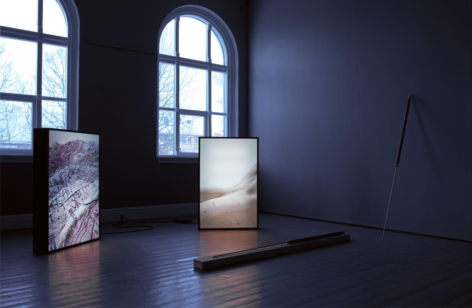 Pressure Point Acupuncture  (2019) av New Mineral Collective. Foto: Vsevolod Kovalevskij/Tromsø Kunstforening