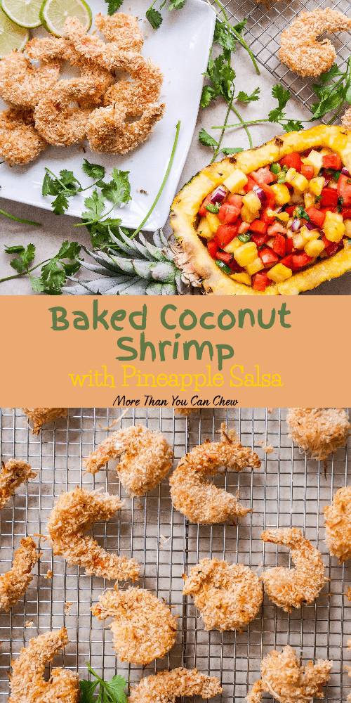 Baked Coconut Shrimp with Pineapple Salsa